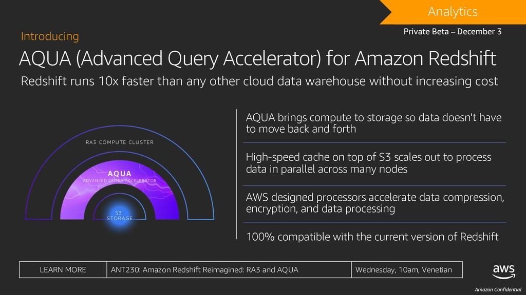 Amazon Confidential AQUA (Advanced Query Accele...