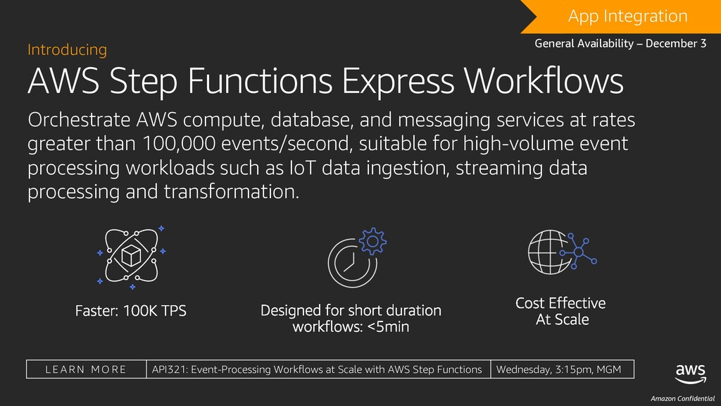 Amazon Confidential AWS Step Functions Express ...
