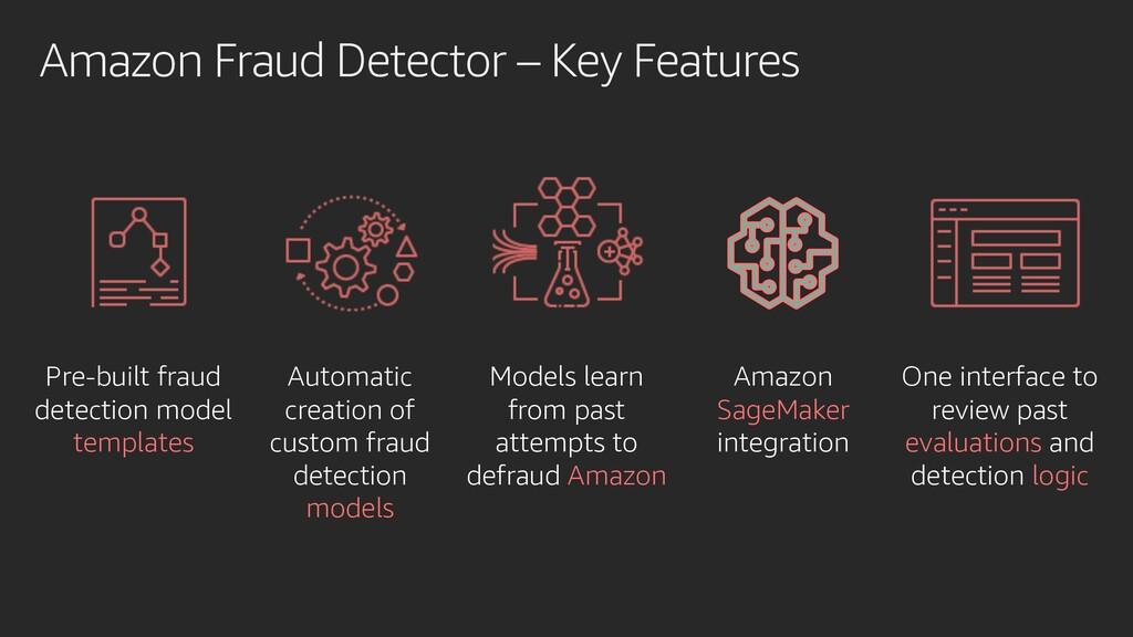 Amazon Fraud Detector – Key Features Pre-built ...