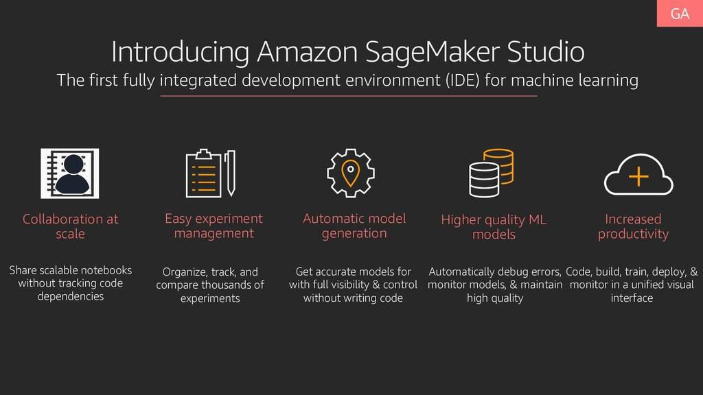 Introducing Amazon SageMaker Studio The first f...