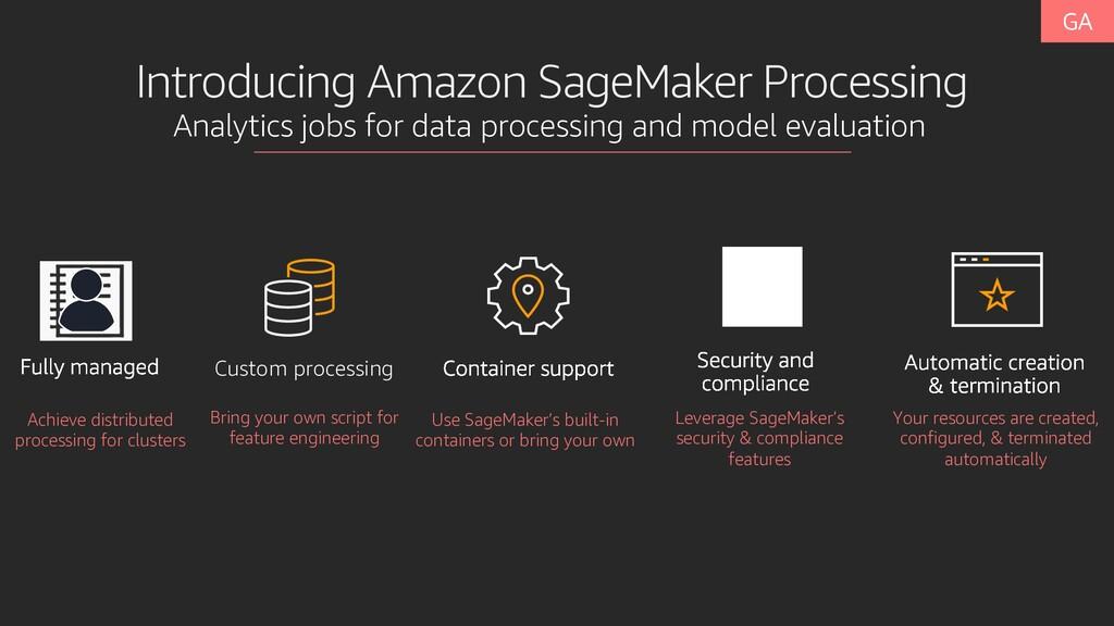 Introducing Amazon SageMaker Processing Analyti...