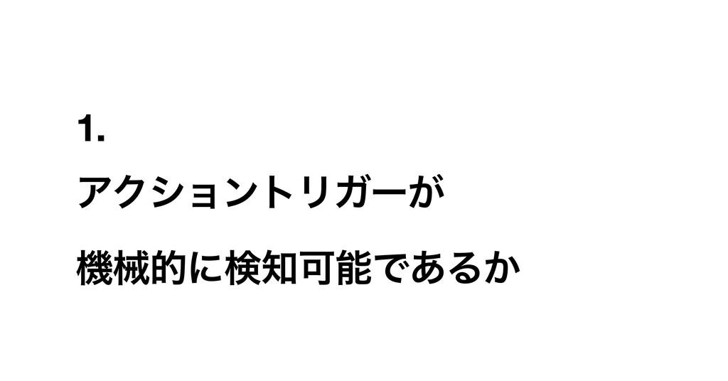1. ΞΫγϣϯτϦΨʔ͕ ػցతʹݕՄͰ͋Δ͔
