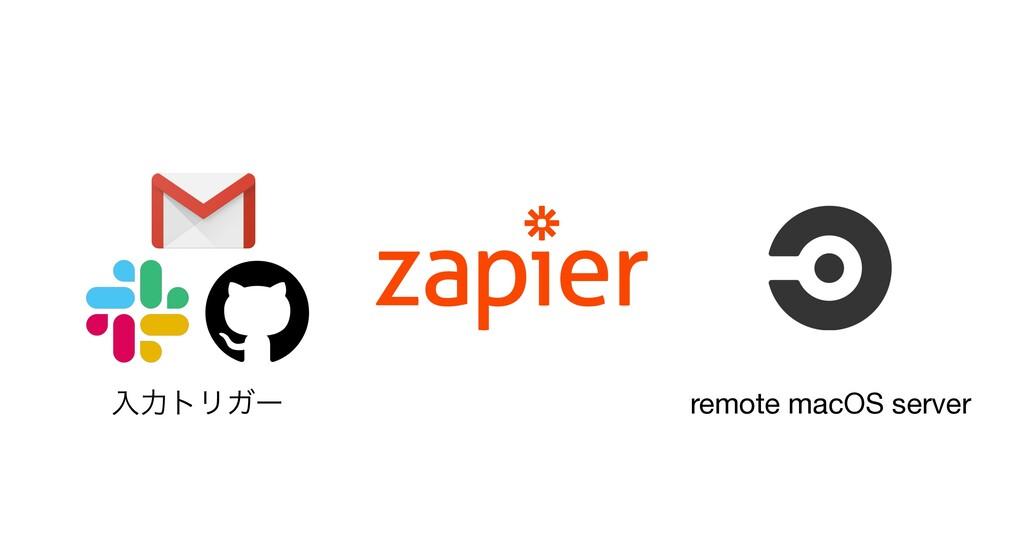 ೖྗτϦΨʔ remote macOS server