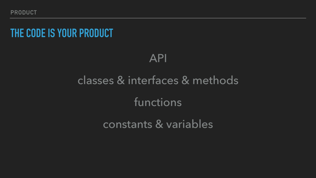 PRODUCT THE CODE IS YOUR PRODUCT API classes & ...