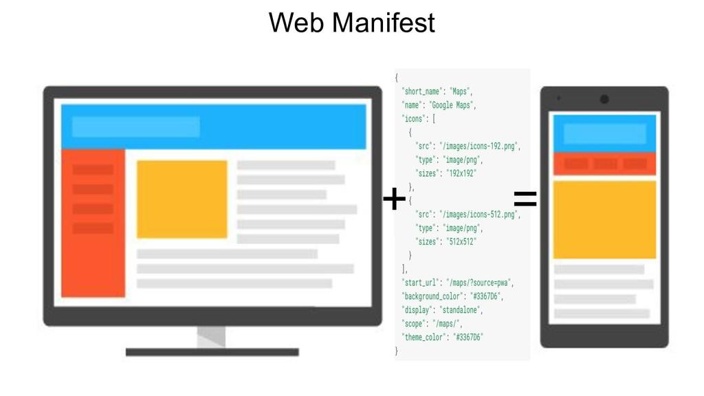 Web Manifest + = + =