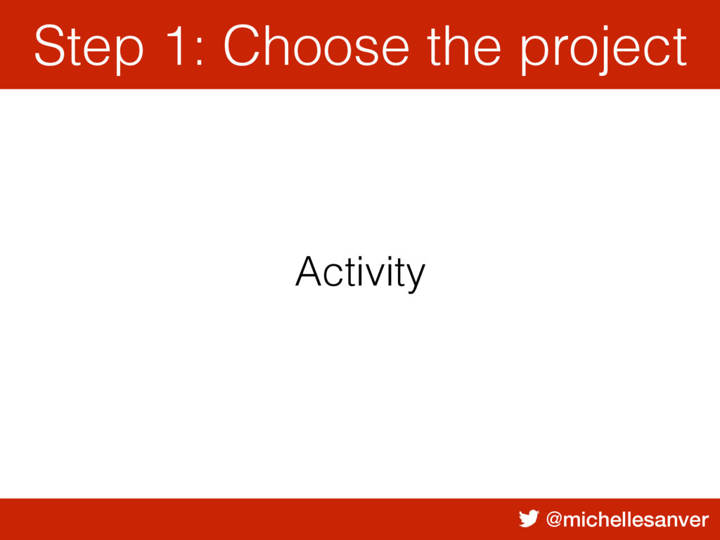@michellesanver Activity Step 1: Choose the pro...