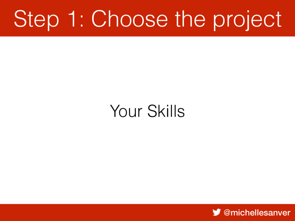 @michellesanver Your Skills Step 1: Choose the ...
