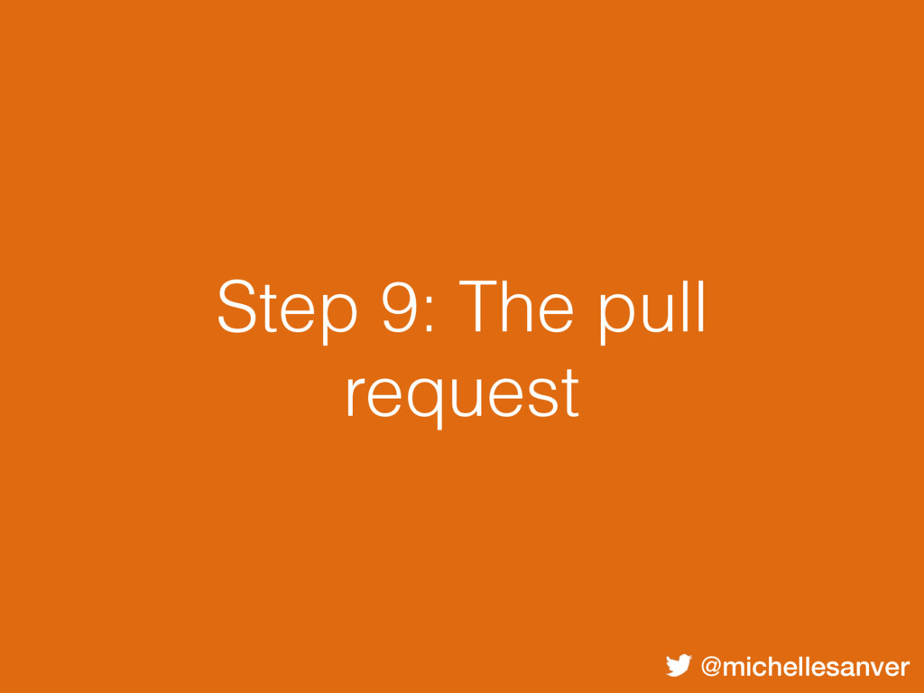 @michellesanver Step 9: The pull request