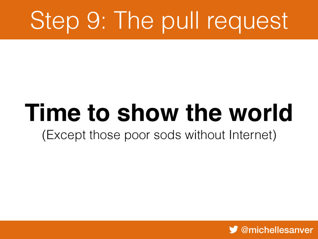 @michellesanver Step 9: The pull request Time t...