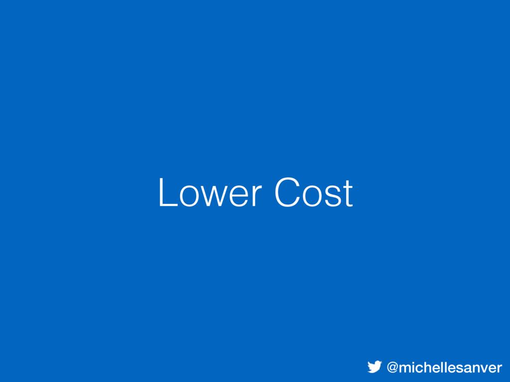 @michellesanver Lower Cost