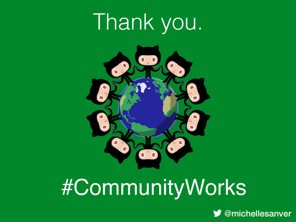@michellesanver Thank you. #CommunityWorks