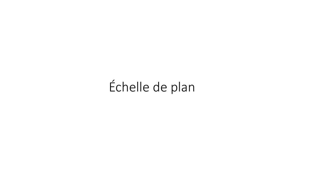 Échelle de plan
