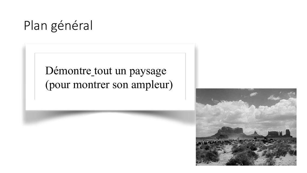 Plan général Démontre tout un paysage (pour mon...