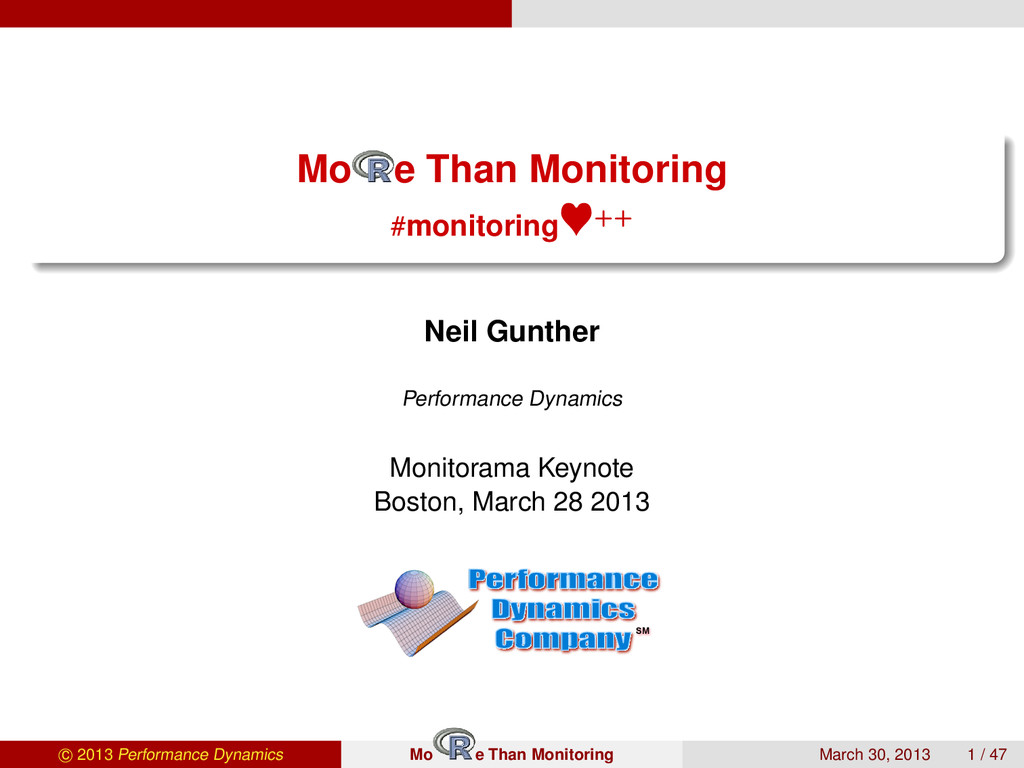 Mo e Than Monitoring #monitoring ++ Neil Gunthe...