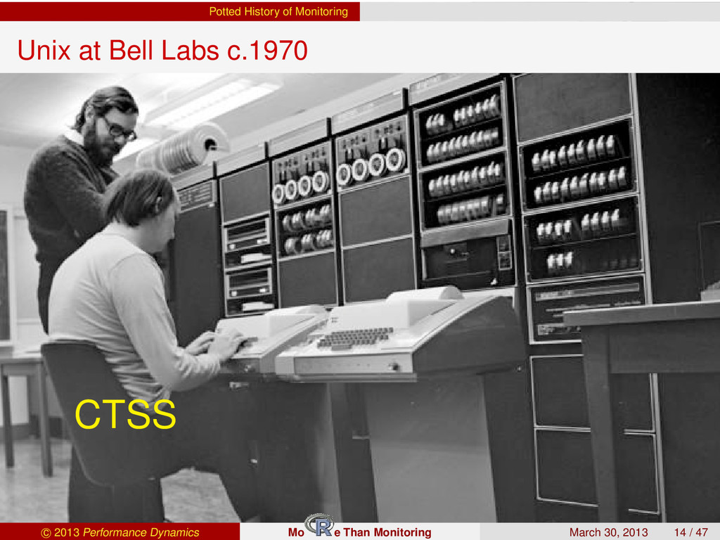 Potted History of Monitoring Unix at Bell Labs ...