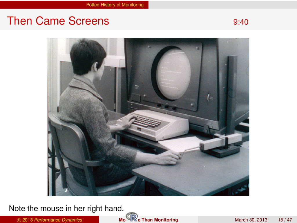 Potted History of Monitoring Then Came Screens ...
