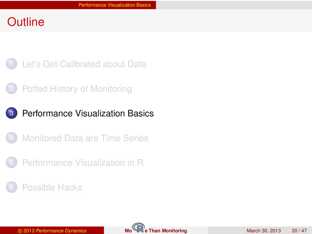 Performance Visualization Basics Outline 1 Let'...