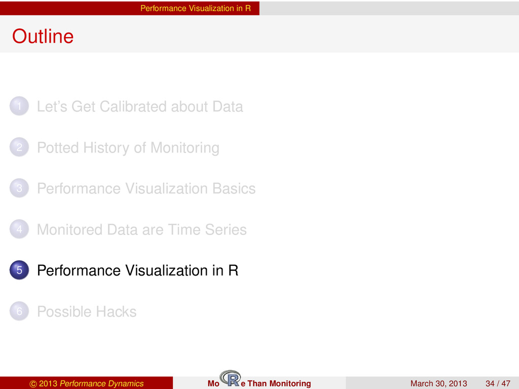 Performance Visualization in R Outline 1 Let's ...