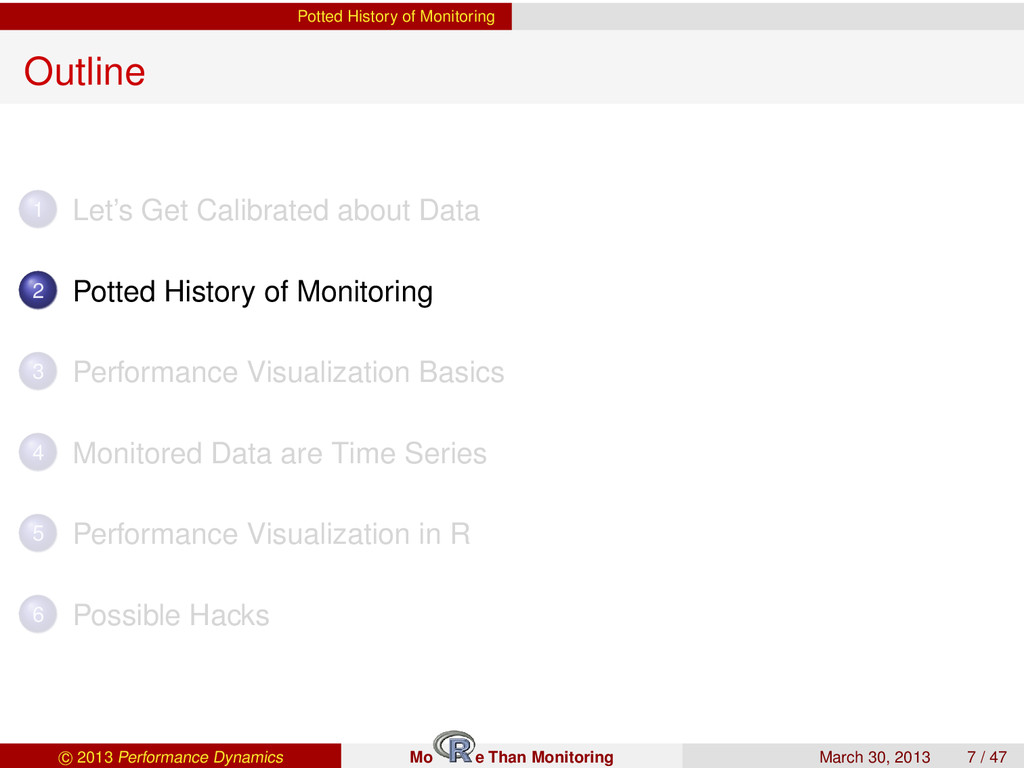 Potted History of Monitoring Outline 1 Let's Ge...