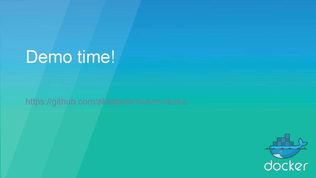 Demo time! https://github.com/akalipetis/swarm-...