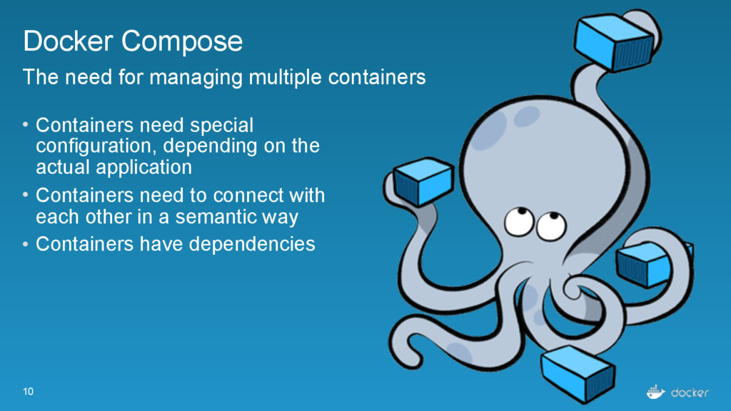 10 Docker Compose The need for managing multipl...