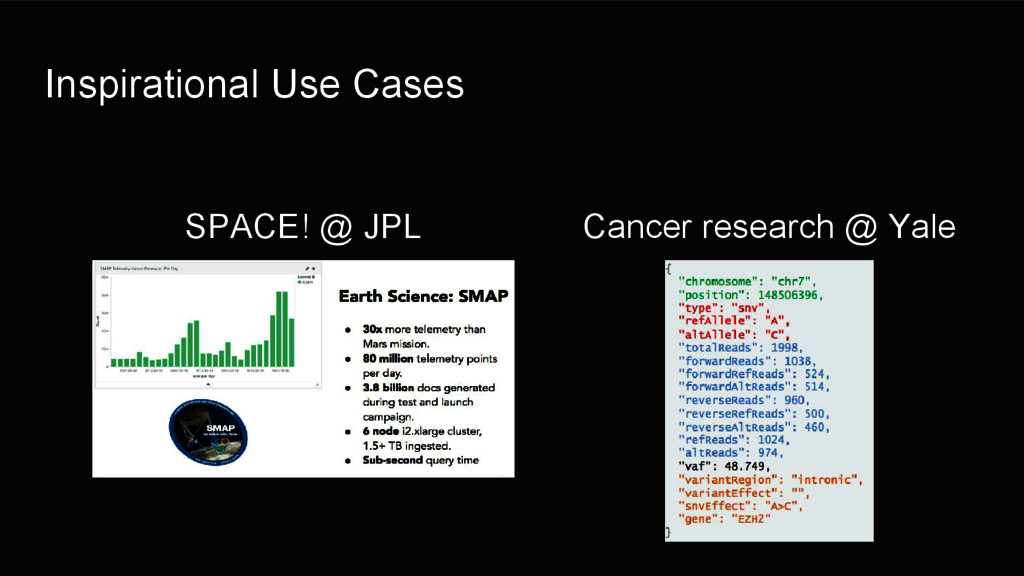 Inspirational Use Cases SPACE! @ JPL Cancer res...