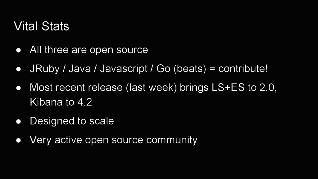 Vital Stats ● All three are open source ● JRuby...