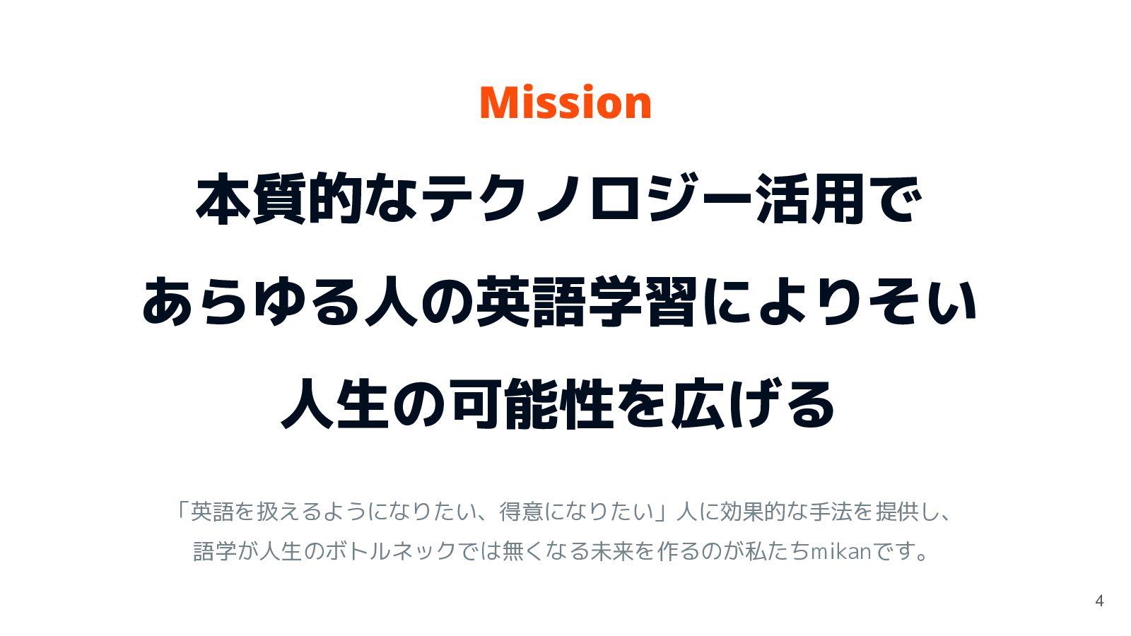 会社概要 社名 株式会社mikan 代表 高岡 和正 創業 2014年6月16日 ...