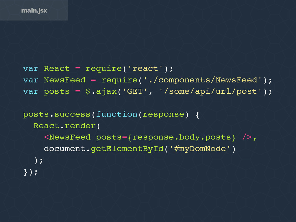 var React = require('react'); var NewsFeed = re...
