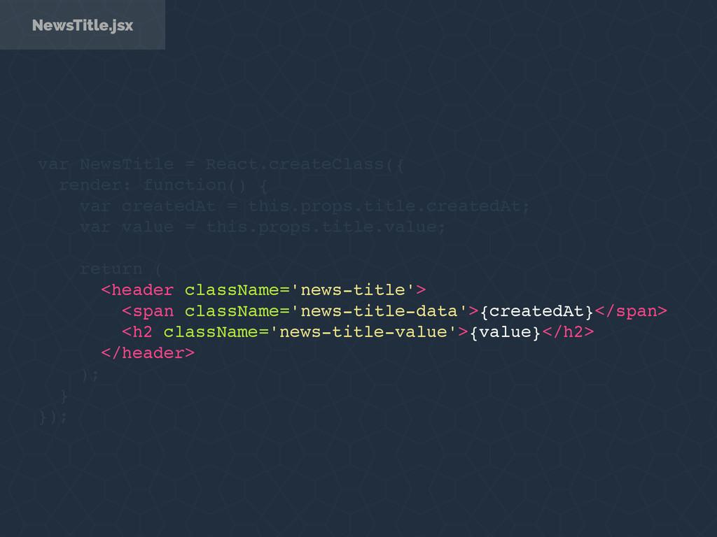NewsTitle.jsx var NewsTitle = React.createClass...