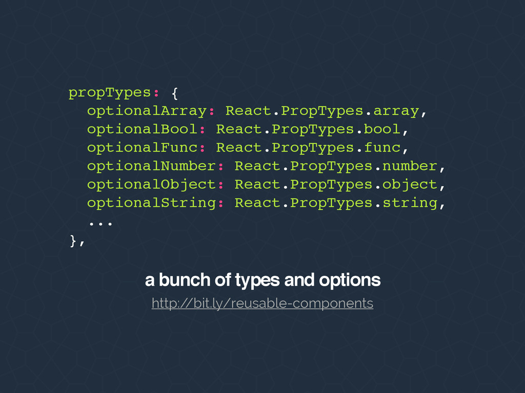 propTypes: { optionalArray: React.PropTypes.arr...