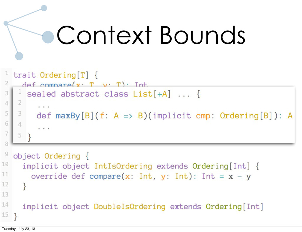 Context Bounds Tuesday, July 23, 13