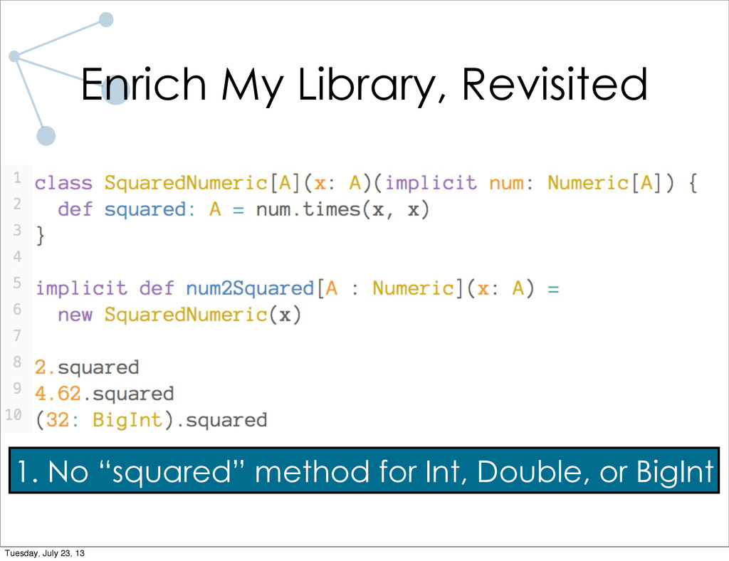 """1. No """"squared"""" method for Int, Double, or BigI..."""