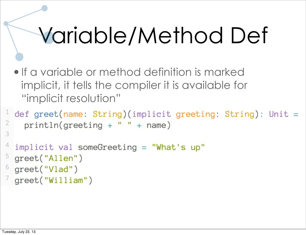 Variable/Method Def •If a variable or method de...