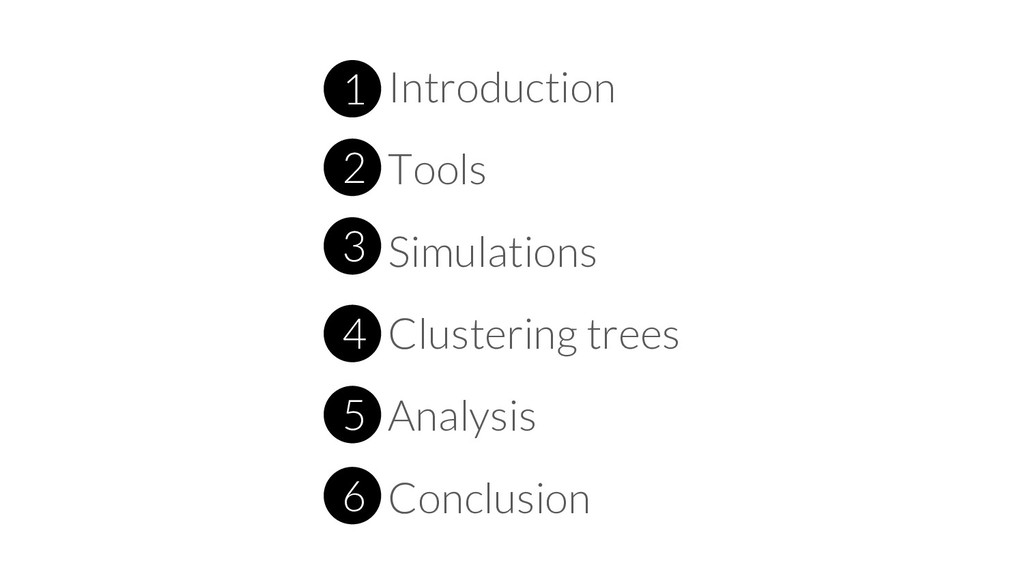 1 Introduction 2 Tools 3 Simulations 4 Clusteri...