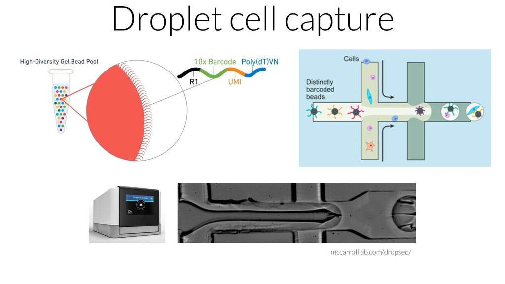 mccarrolllab.com/dropseq/ Droplet cell capture