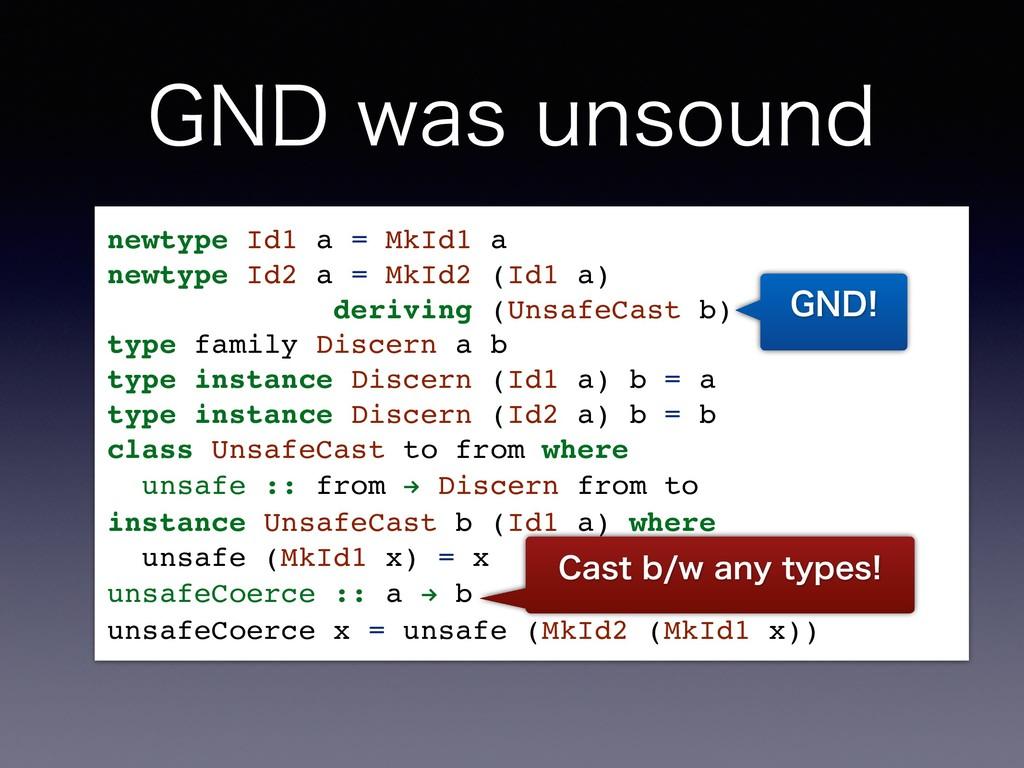 (/%XBTVOTPVOE newtype Id1 a = MkId1 a newtype...