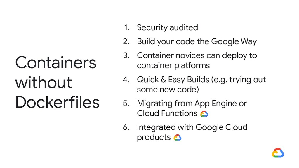 Containers without Dockerfiles 1. Security audi...