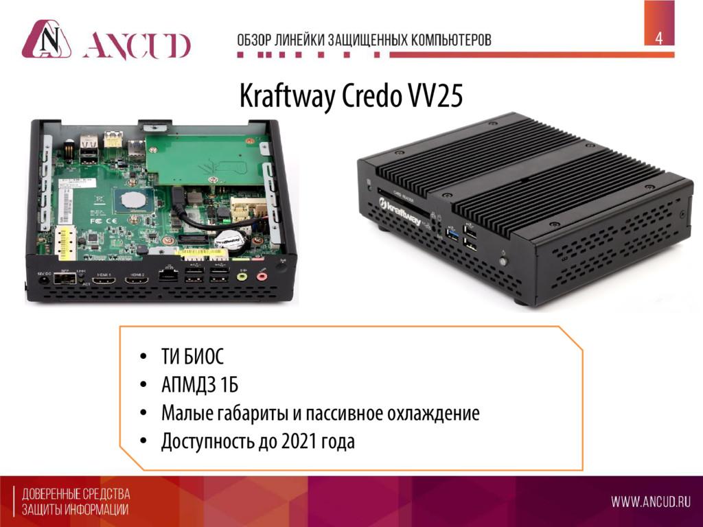 4 Kraftway Credo VV25 • ТИ БИОС • АПМДЗ 1Б • Ма...