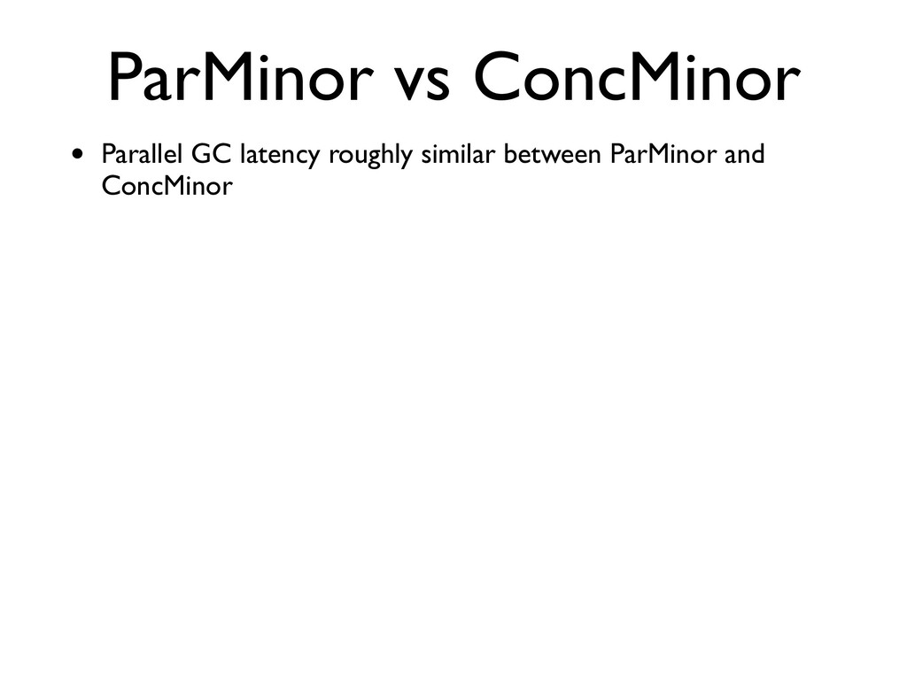ParMinor vs ConcMinor • Parallel GC latency rou...