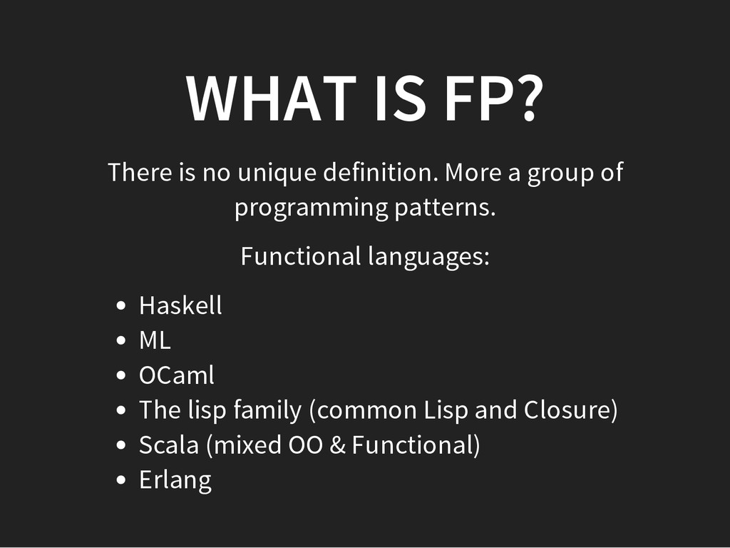 WHAT IS FP? There is no unique definition. More...