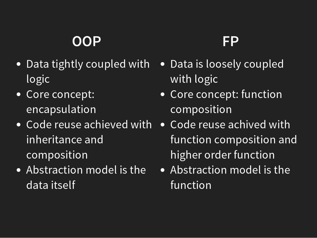 OOP Data tightly coupled with logic Core concep...