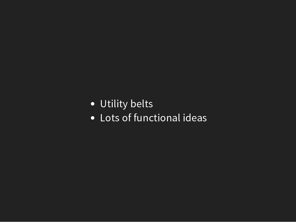 Utility belts Lots of functional ideas