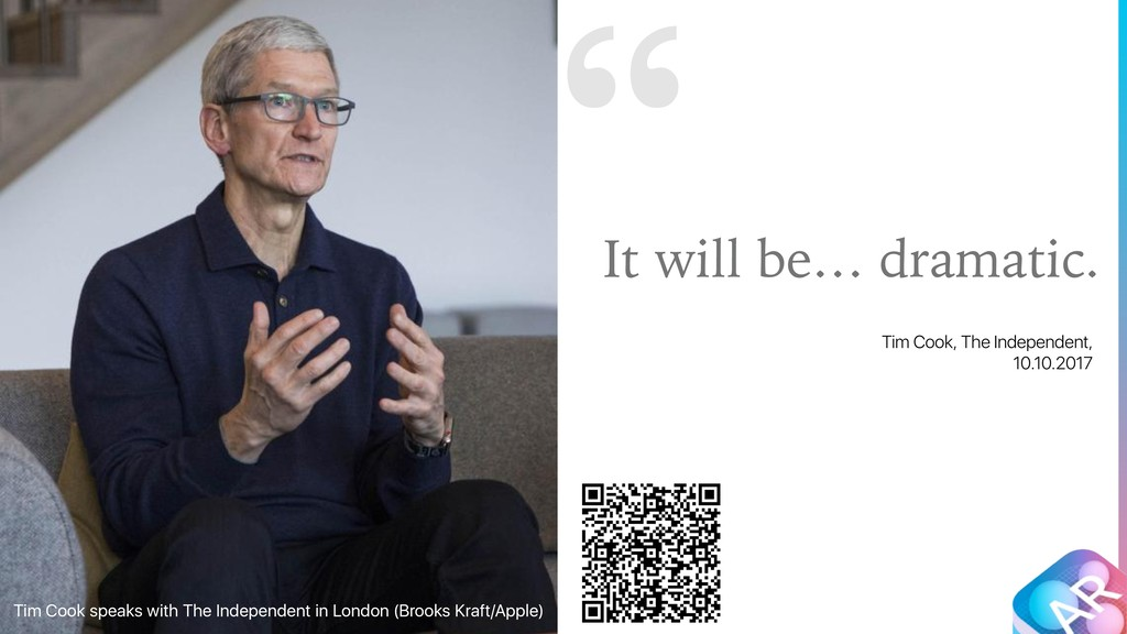 """ It will be… dramatic. Tim Cook, The Independe..."