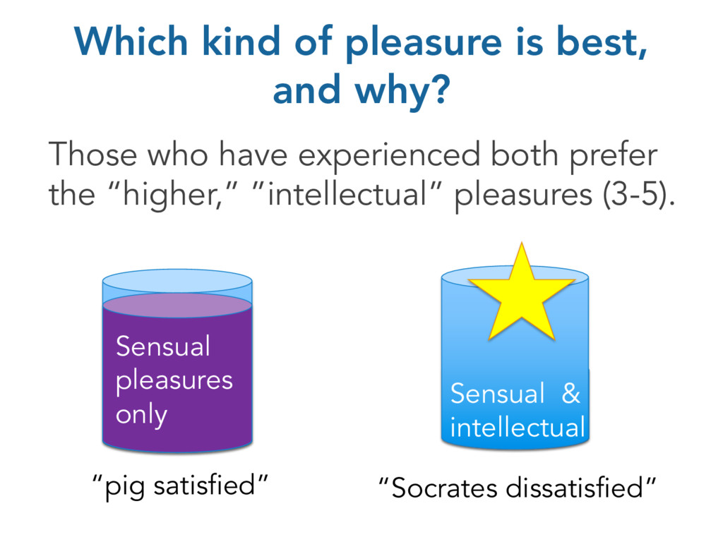 Which kind of pleasure is best, and why? Those ...
