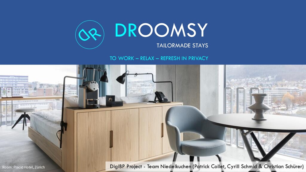 DROOMSY TAILORMADE STAYS TO WORK – RELAX – REFR...