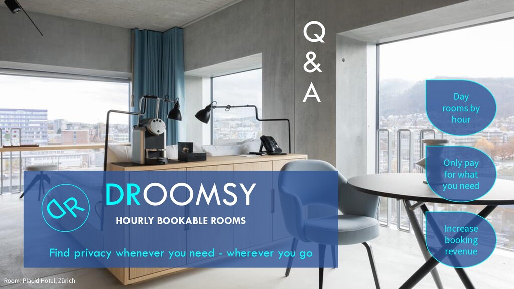 Only pay for what you need Day rooms by hour In...