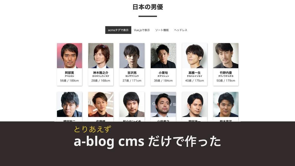 a-blog cms ͚ͩͰ࡞ͬͨ ͱΓ͋͑ͣ