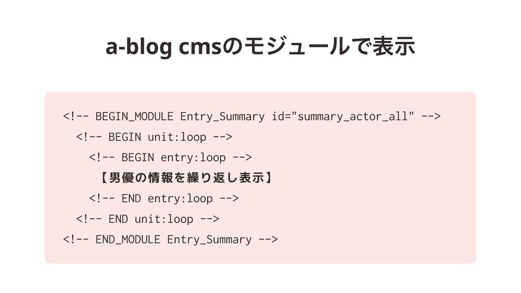 a-blog cmsͷϞδϡʔϧͰදࣔ <!-- BEGIN_MODULE Entry_Sum...