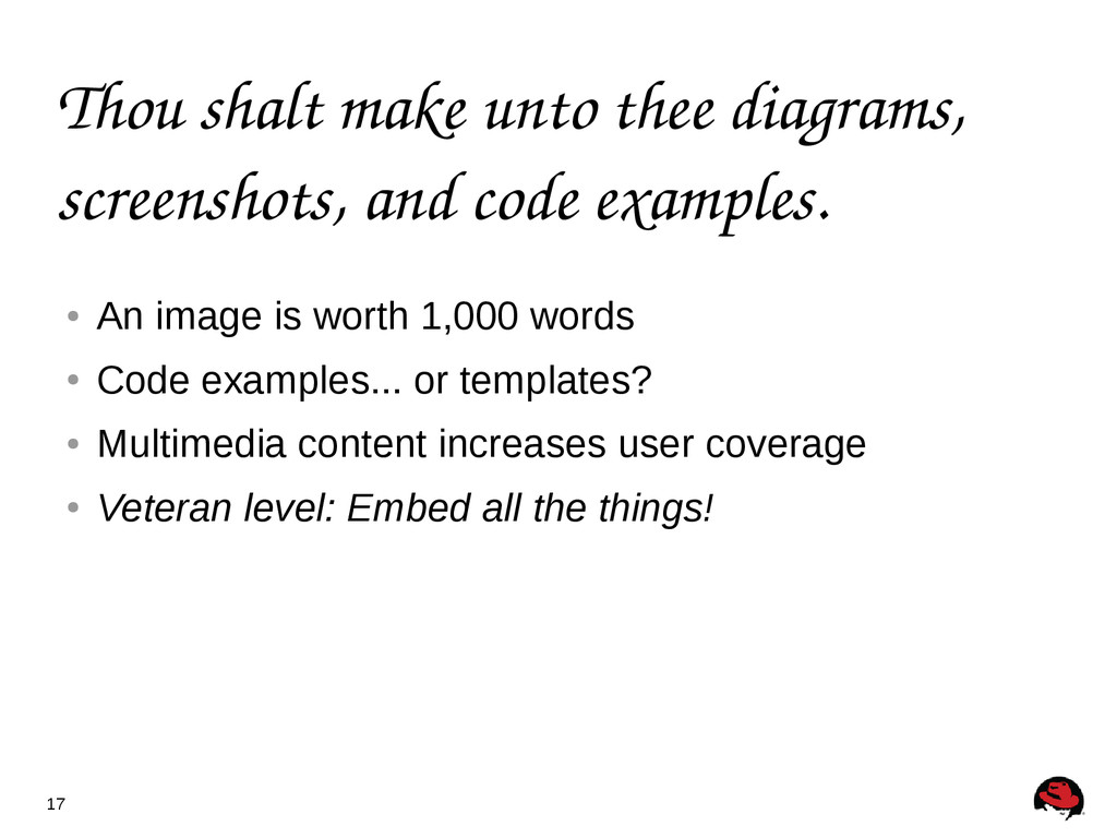 17 Thou shalt make unto thee diagrams, screensh...